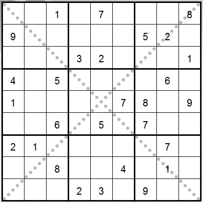 A4) Diagonal sudoku